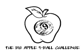 mark for 9 BIG APPLE 9-BALL CHALLENGE, trademark #78659328