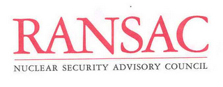 mark for RANSAC NUCLEAR SECURITY ADVISORY COUNCIL, trademark #78661978