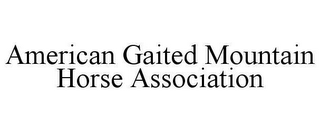 mark for AMERICAN GAITED MOUNTAIN HORSE ASSOCIATION, trademark #78662123