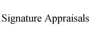 mark for SIGNATURE APPRAISALS, trademark #78663365