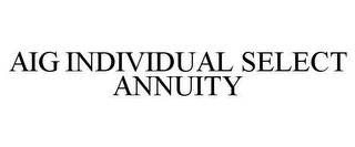 mark for AIG INDIVIDUAL SELECT ANNUITY, trademark #78663881