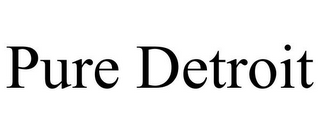 mark for PURE DETROIT, trademark #78664485