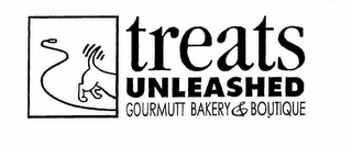 mark for TREATS UNLEASHED GOURMUTT BAKERY & BOUTIQUE, trademark #78664825