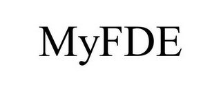 mark for MYFDE, trademark #78666399