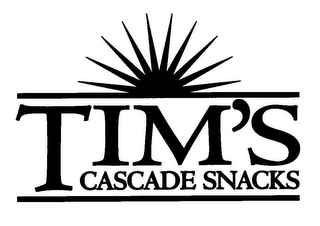 mark for TIM'S CASCADE SNACKS, trademark #78666994