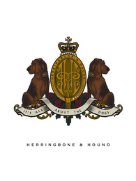 mark for HERRINGBONE & HOUND IT'S ALL ABOUT THE DOGS, trademark #78667308