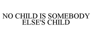 mark for NO CHILD IS SOMEBODY ELSE'S CHILD, trademark #78669175