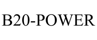mark for B20-POWER, trademark #78669251
