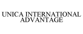 mark for UNICA INTERNATIONAL ADVANTAGE, trademark #78669548