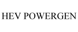 mark for HEV POWERGEN, trademark #78672405