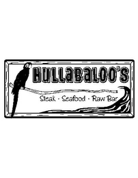 mark for HULLABALOO'S STEAK SEAFOOD RAW BAR, trademark #78674881