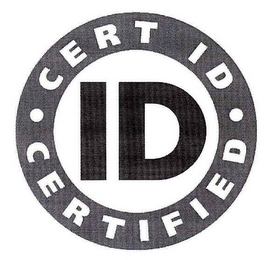 mark for ID CERT ID CERTIFIED, trademark #78676012