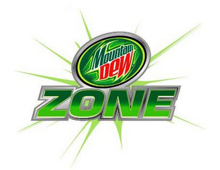 mark for MOUNTAIN DEW ZONE, trademark #78679845