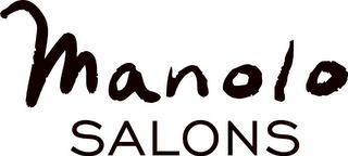 mark for MANOLO SALONS, trademark #78682284