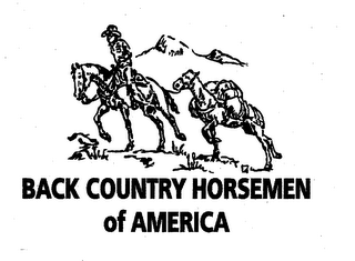 mark for BACK COUNTRY HORSEMEN OF AMERICA, trademark #78682832