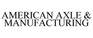 mark for AMERICAN AXLE & MANUFACTURING, trademark #78682870