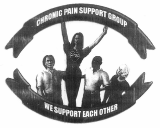 mark for CPSG CHRONIC PAIN SUPPORT GROUP WE SUPPORT EACH OTHER, trademark #78683104