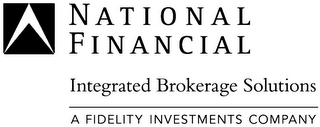 mark for NATIONAL FINANCIAL INTEGRATED BROKERAGE SOLUTIONS A FIDELITY INVESTMENTS COMPANY, trademark #78684909