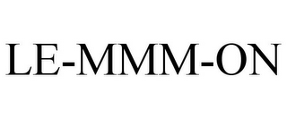 mark for LE-MMM-ON, trademark #78687017