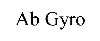 mark for AB GYRO, trademark #78687065