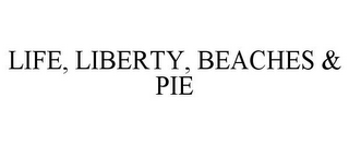 mark for LIFE, LIBERTY, BEACHES & PIE, trademark #78690245
