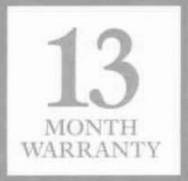 mark for 13 MONTH WARRANTY, trademark #78691271