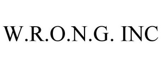 mark for W.R.O.N.G. INC, trademark #78693944