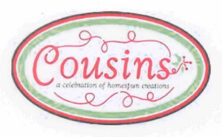 mark for COUSINS A CELEBRATION OF HOMESPUN CREATIONS, trademark #78696312
