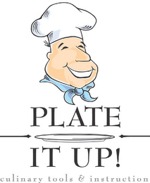 mark for PLATE IT UP! CULINARY TOOLS & INSTRUCTION, trademark #78696997