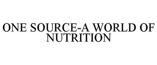 mark for ONE SOURCE-A WORLD OF NUTRITION, trademark #78697035