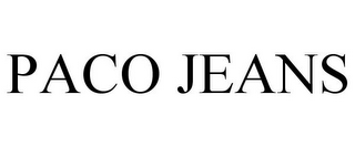 mark for PACO JEANS, trademark #78699619