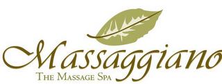 mark for MASSAGGIANO THE MASSAGE SPA, trademark #78702856