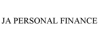 mark for JA PERSONAL FINANCE, trademark #78705199