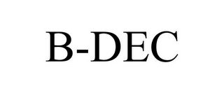 mark for B-DEC, trademark #78707444