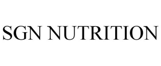 mark for SGN NUTRITION, trademark #78707574