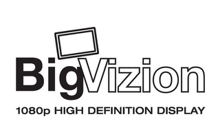 mark for BIGVIZION 1080P HIGH DEFINITION DISPLAY, trademark #78708221