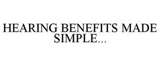 mark for HEARING BENEFITS MADE SIMPLE..., trademark #78708335