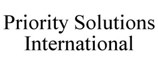 mark for PRIORITY SOLUTIONS INTERNATIONAL, trademark #78708377