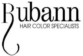 mark for RUBANN HAIR COLOR SPECIALISTS, trademark #78708558