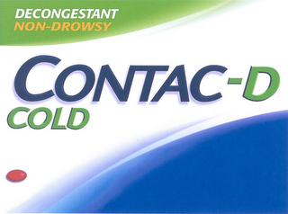 mark for CONTAC-D COLD DECONGESTANT NON-DROWSY, trademark #78711525