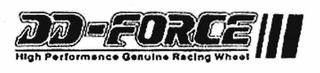 mark for DD-FORCE HIGH PERFORMANCE GENUINE RACING WHEEL, trademark #78713311