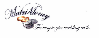 mark for MATRIMONEY THE WAY TO GIVE WEDDING CASH., trademark #78718367