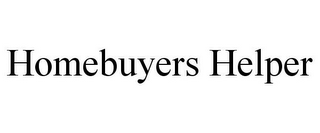 mark for HOMEBUYERS HELPER, trademark #78720258
