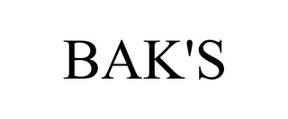 mark for BAK'S, trademark #78723697