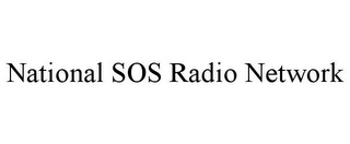 mark for NATIONAL SOS RADIO NETWORK, trademark #78726655