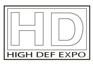 mark for HD HIGH DEF EXPO, trademark #78729048