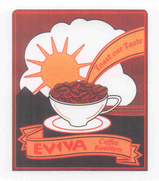 mark for EVIVA COFFEE ROASTERS TOAST OUR TASTE, trademark #78730337