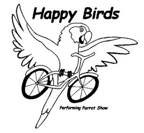 mark for HAPPY BIRDS PERFORMING PARROT SHOW, trademark #78732771
