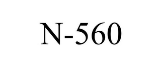 mark for N-560, trademark #78736278