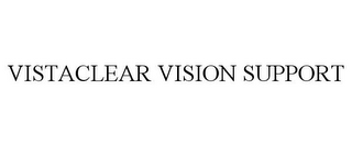 mark for VISTACLEAR VISION SUPPORT, trademark #78737115